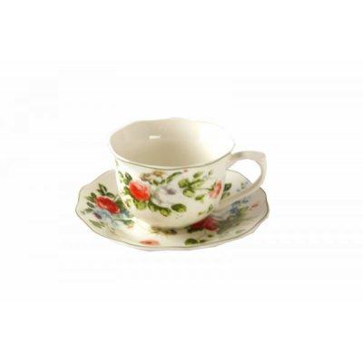 Service de 6 pièces en porcelaine - New Spring Rose - Style provençal / minable