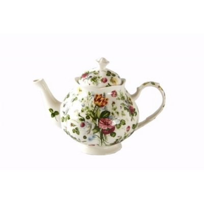 English Style Fine Porcelain Teapot - New Spring Rose Collection - Royal Family Sheffield