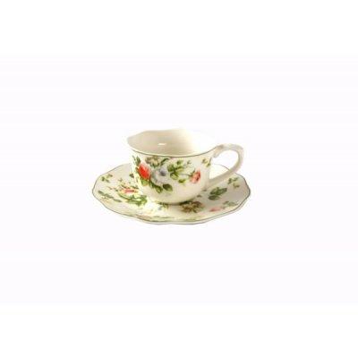 Service à café 6 pièces style anglais - Nouvelle collection Spring Rose - Royal Family Sheffield