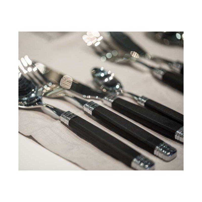 Colored Cutlery Rossini set 75pcs black