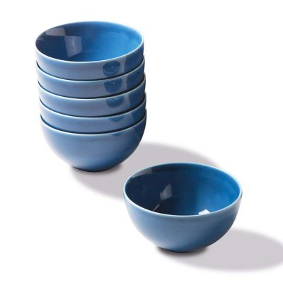 Set 6 Pieces Blue Porcelain Cups - Rivaldi