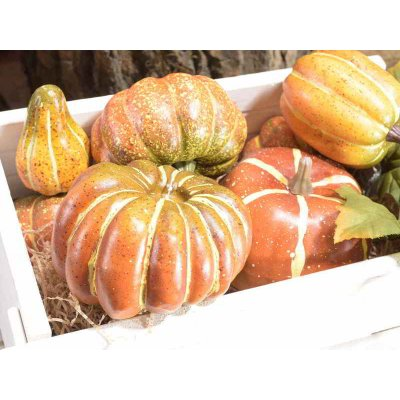 Decorative Realistic Pumpkins n. 2 Bags Color Orange