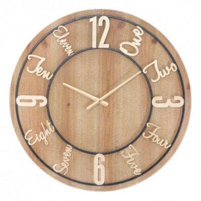 Orologio Da Muro Wood Cm Ø 60X5  Glam