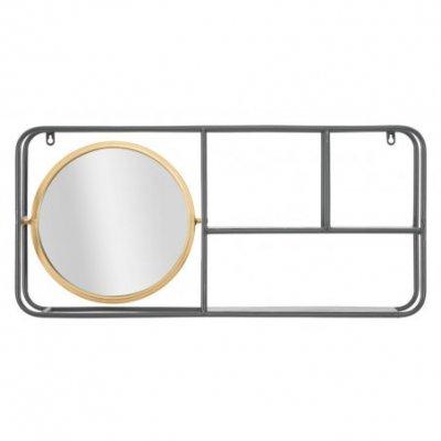 Specchio Circle Con Mensole Industry