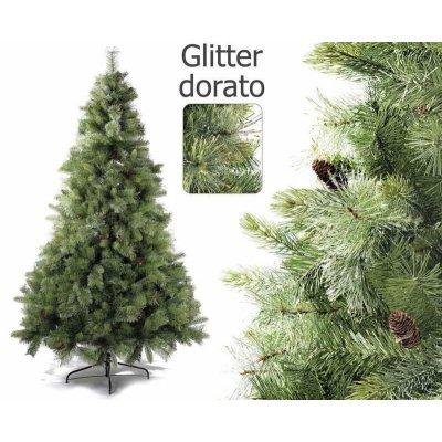 Albero di Natale Colorado con Glitter e Pigne