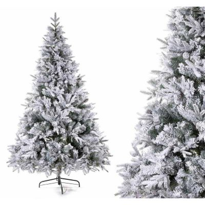 Snow Covered Christmas Tree - Canada - Realistic Pine Cones Effect