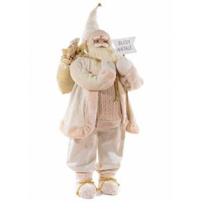 Babbo Natale Grande Bianco e Oro cm 60x47x156