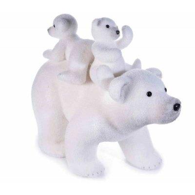 Ours polaire - Décoration de Noël pittoresque 3 pièces