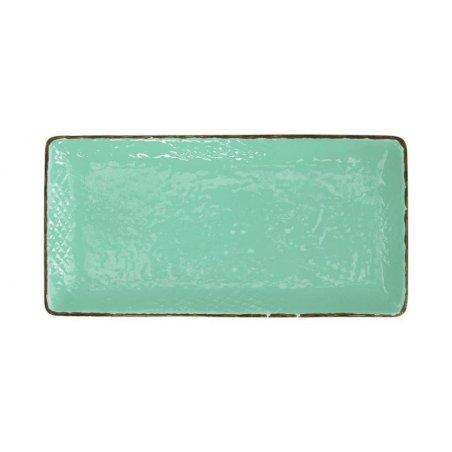 Sushi Plate 30x15 in Ceramic - Set 4 Pcs - Tiffany Green Water Color - Preta