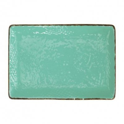 Ceramiche Made in Italy Arcucci - Vassoio  Set 4 Pz Verde Acqua