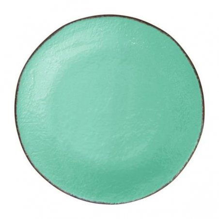 Ceramiche Made in Italy Arcucci - Piatto Frutta Set 6 Pz Verde Tiffany