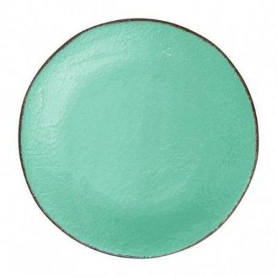 Ceramiche Made in Italy Arcucci - Piatto Piano Set 6 Pz Verde Tiffany