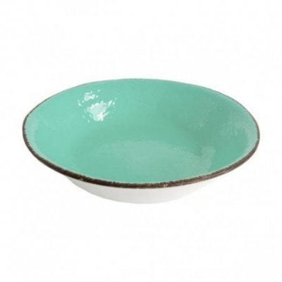 Ceramiche Made in Italy Arcucci - Piatto Fondo Set 6 Pz  verde tiffany