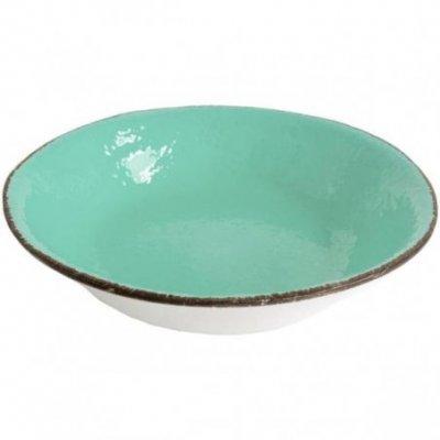 Ceramiche Made in Italy Arcucci - Risottiera verde tiffany
