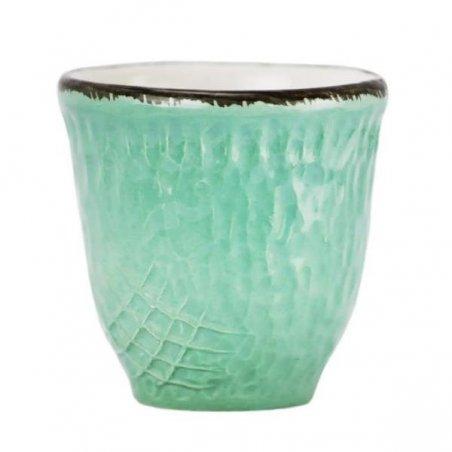 Ceramiche Made in Italy Arcucci - Tazza Caffè/Liquore verde tiffany