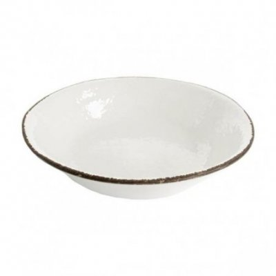 Salad bowl 26 cm in Ceramic - White Milk Color - Preta