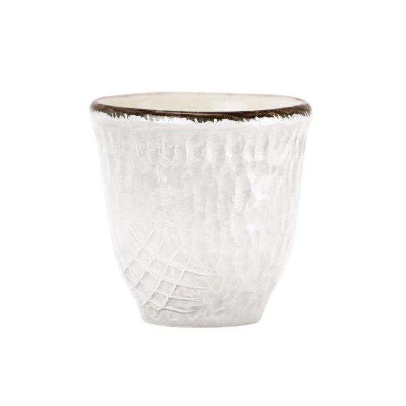 Ceramiche Made in Italy Arcucci - Tazza Caffè/Liquore Bianco Latte