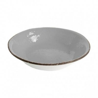 Salad bowl 26 cm in Ceramic - Gray Color - Preta