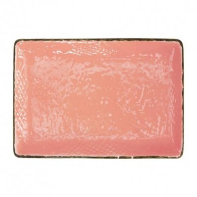 Ceramic Tray 32x26 - Set 4 pcs - Powder Pink Color - Preta
