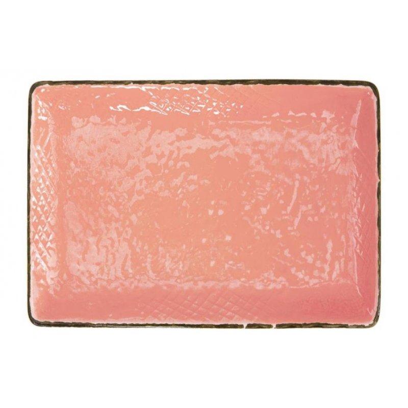 Ceramiche Made in Italy Arcucci - Vassoio  32x26 - Set 4 pz -  Rosa Cipria