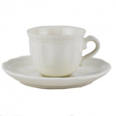 Set 6 Pz Tazzine Caffè e Piattino - porcellana    cl10