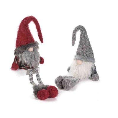 Christmas Gnome Set 2 Pcs Red and Gray