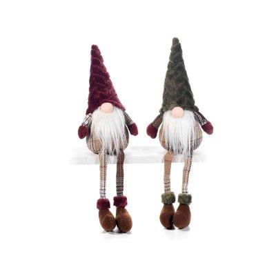 Christmas Gnomes Long Legs Scottish Dress and Plush Hat Set 2 Pcs