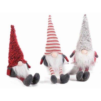 Set 3 Pcs Christmas Gnomes Assorted Colors