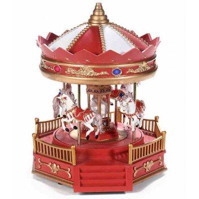 Carillon Giostra di Cavalli - Decorazione Natalizia con Luci