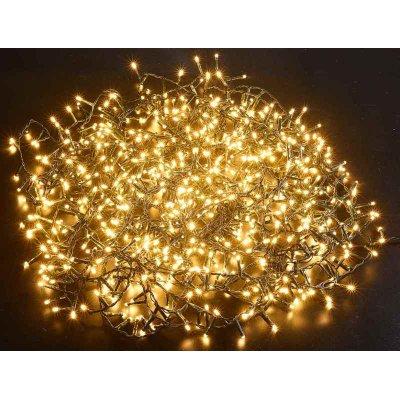 Luci Natalizie 800 Led Luce Bianco Caldo Mt 21,50