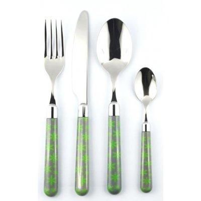 Naif Ice Christmas Cutlery - Set 4Pz - Rivadossi Sandro Gray / Green