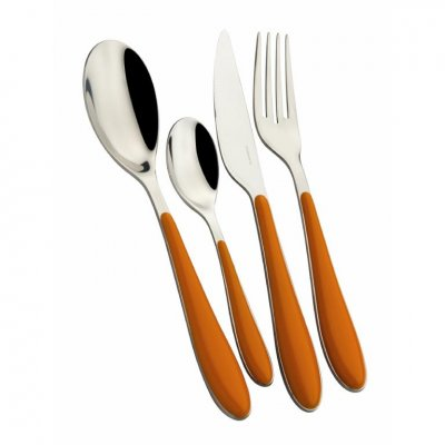 Gioia Casa Bugatti Colored Cutlery Set 24 Pieces - Orange