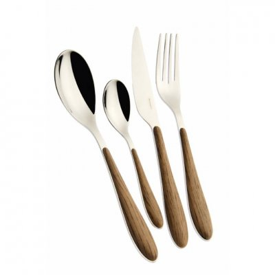 Gioia Casa Bugatti Cutlery Set 24 Pcs - Maple Wood Effect