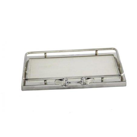 Royal Family - White Leather valet tray 27 x 16 - 2
