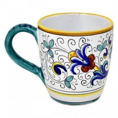 Tazza in Ceramica cm 10x14x10 - Decoro Ricco Deruta
