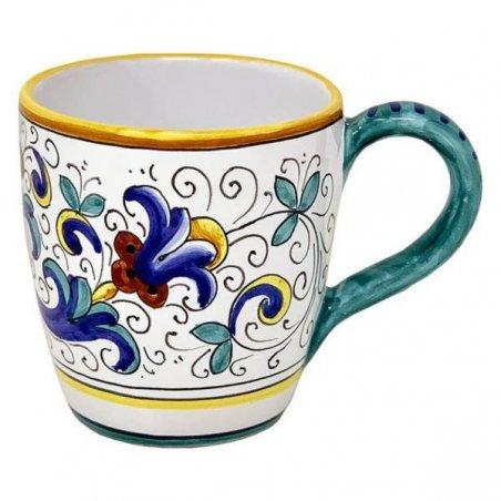 Tazza in Ceramica cm 10x14x10 - Decoro Ricco Deruta - 5 -
