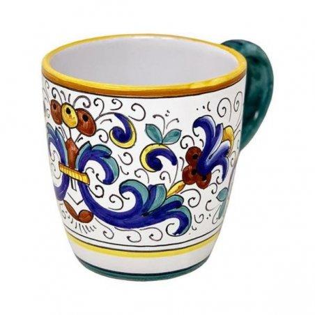 Tazza in Ceramica cm 10x14x10 - Decoro Ricco Deruta - 6 -
