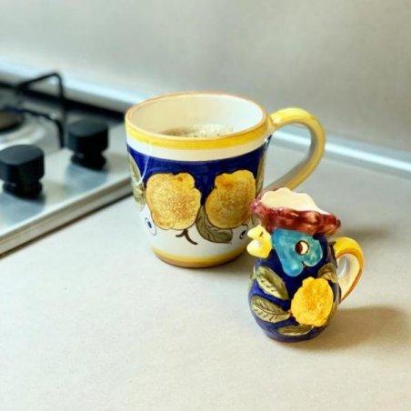 Tazza in Ceramica Deruta cm 10x14x10 - Decoro Positano - 7