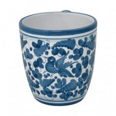 Tazza Ceramica Deruta - Decoro Arabesco Turchese - 2 -