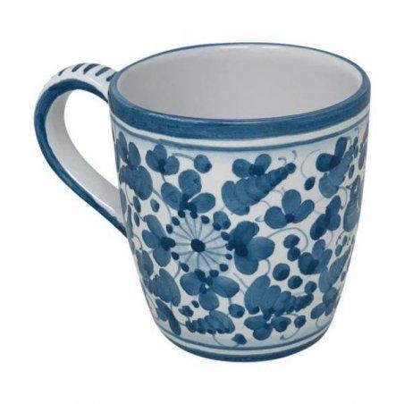Tazza Ceramica Deruta - Decoro Arabesco Turchese - 3 -