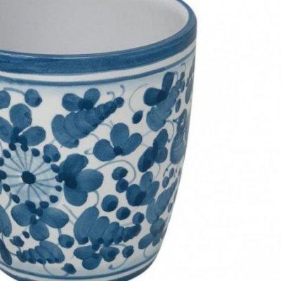 Tazza Ceramica Deruta - Decoro Arabesco Turchese - 4 -