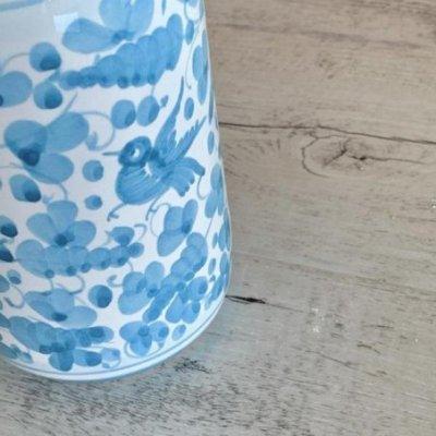Deruta Ceramic Oil Cruet - 0,75L 25cm Turquoise Arabesque - 4