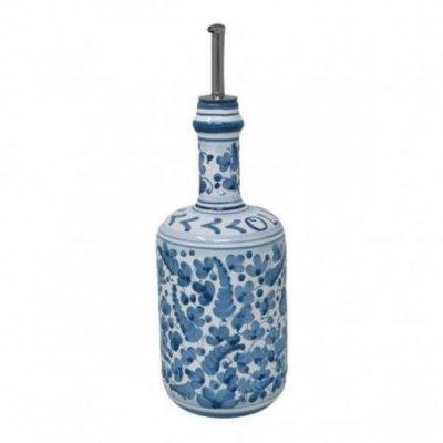 Deruta Ceramic Oil Cruet - 0,75L 25cm Turquoise Arabesque - 1