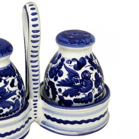 Sale-pepe in Ceramica Deruta -  Arabesco Blu - 2 -