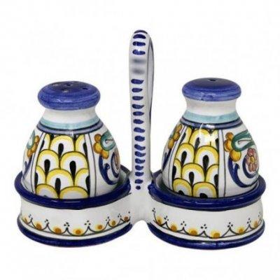 Sale-pepe in Ceramica Deruta -  15x13x6cm decoro Jacobi