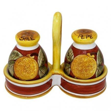 Sale-pepe in Ceramica Deruta -  Positano Rosso - 2