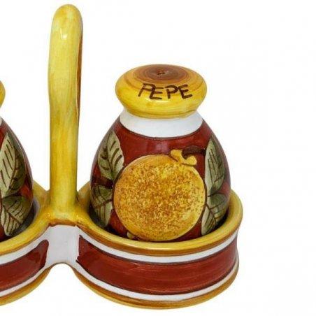 Sale-pepe in Ceramica Deruta -  Positano Rosso - 3