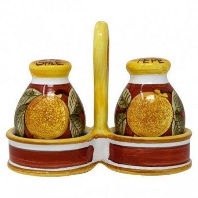 Sale-pepe in Ceramica Deruta -  Positano Rosso - 4
