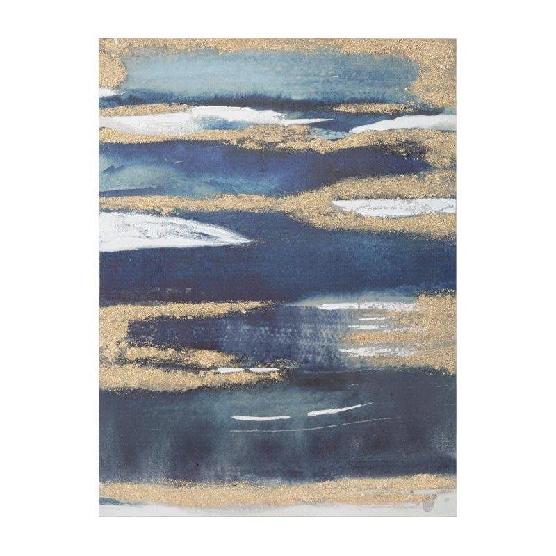 Dipinto Su Tela Dark Blue Cm 60X2