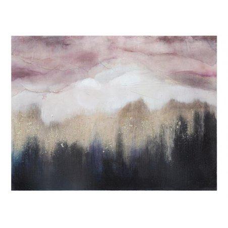 Dipinto Su Tela Rosa Mountain Cm 80X2
